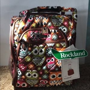 NWT - ROCKLAND- 15 inch Owl print carry-on luggage